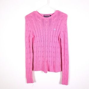VINEYARD VINES Sz S Pink Cable Knit Sweater